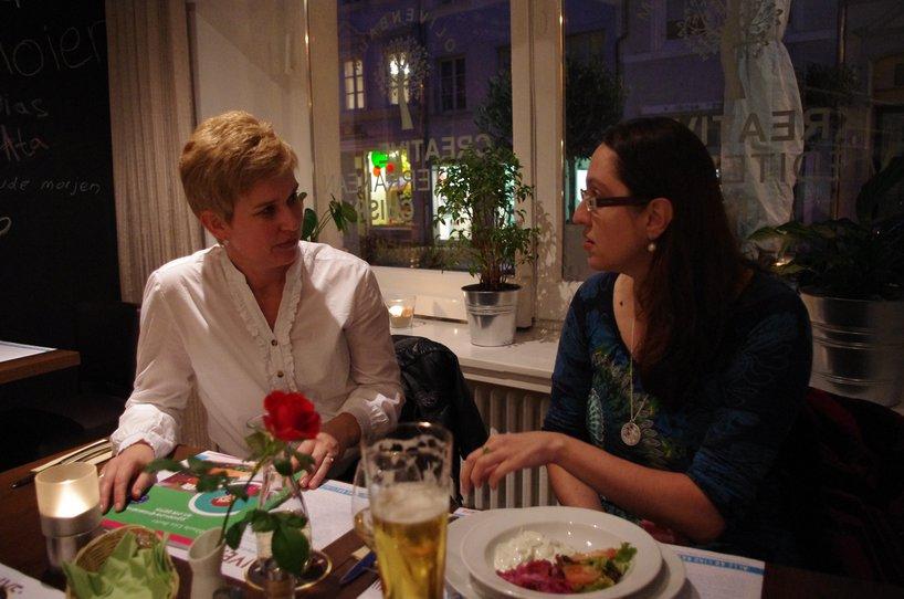 Ana Goumas and Mihaela  Lica Butler discuss Greek cuisine