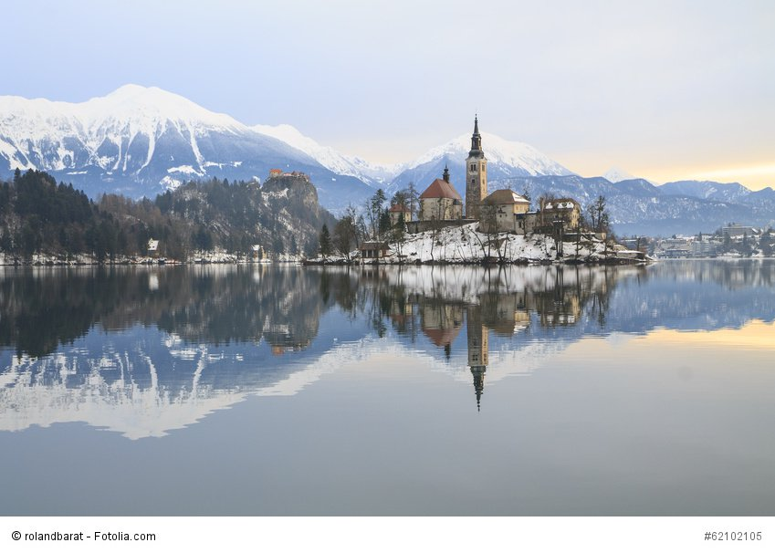 Lake Bled in Winter