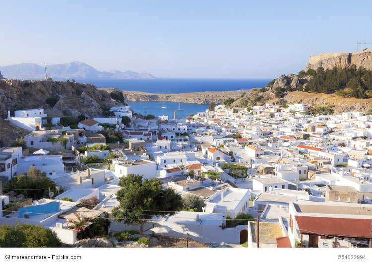 The village of Lindos