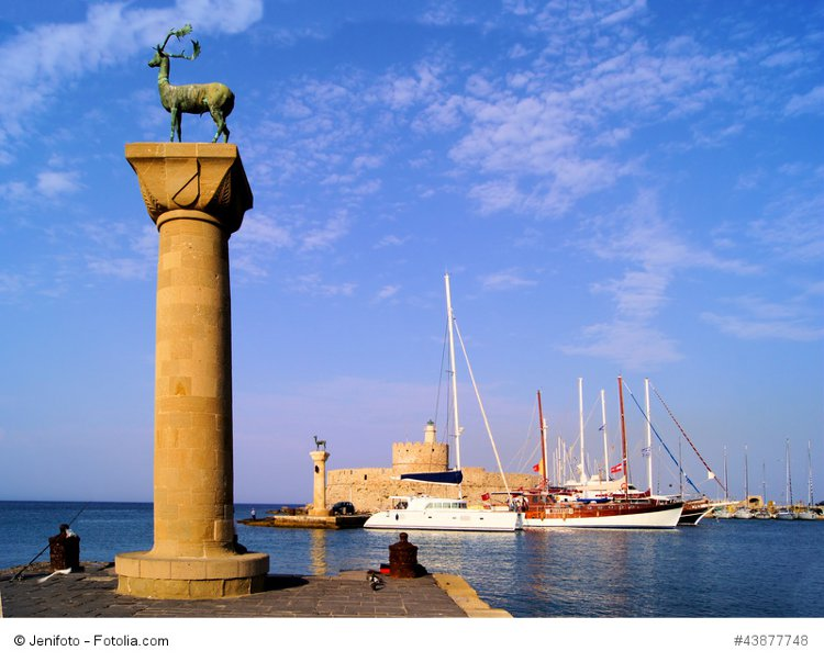 Rhodes Mandraki harbor