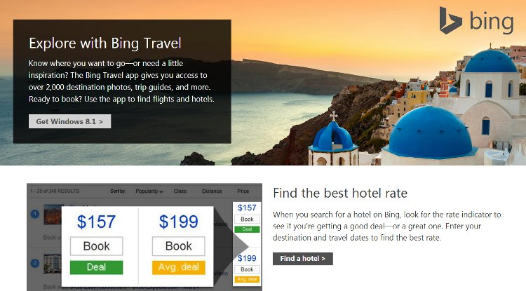 Is Bing bringing on Bing Travel the app?