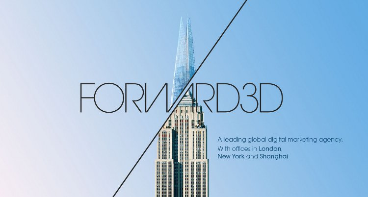 Forward3D landing page