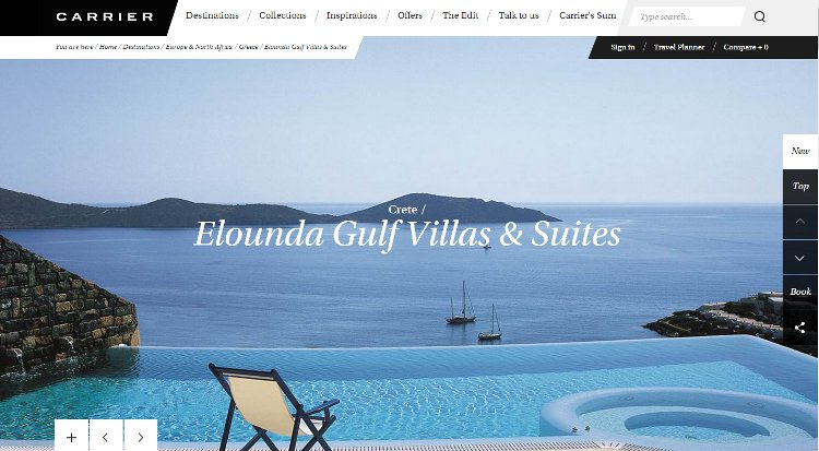 The Carrier feature of Elounda Gulf Villas & Suites
