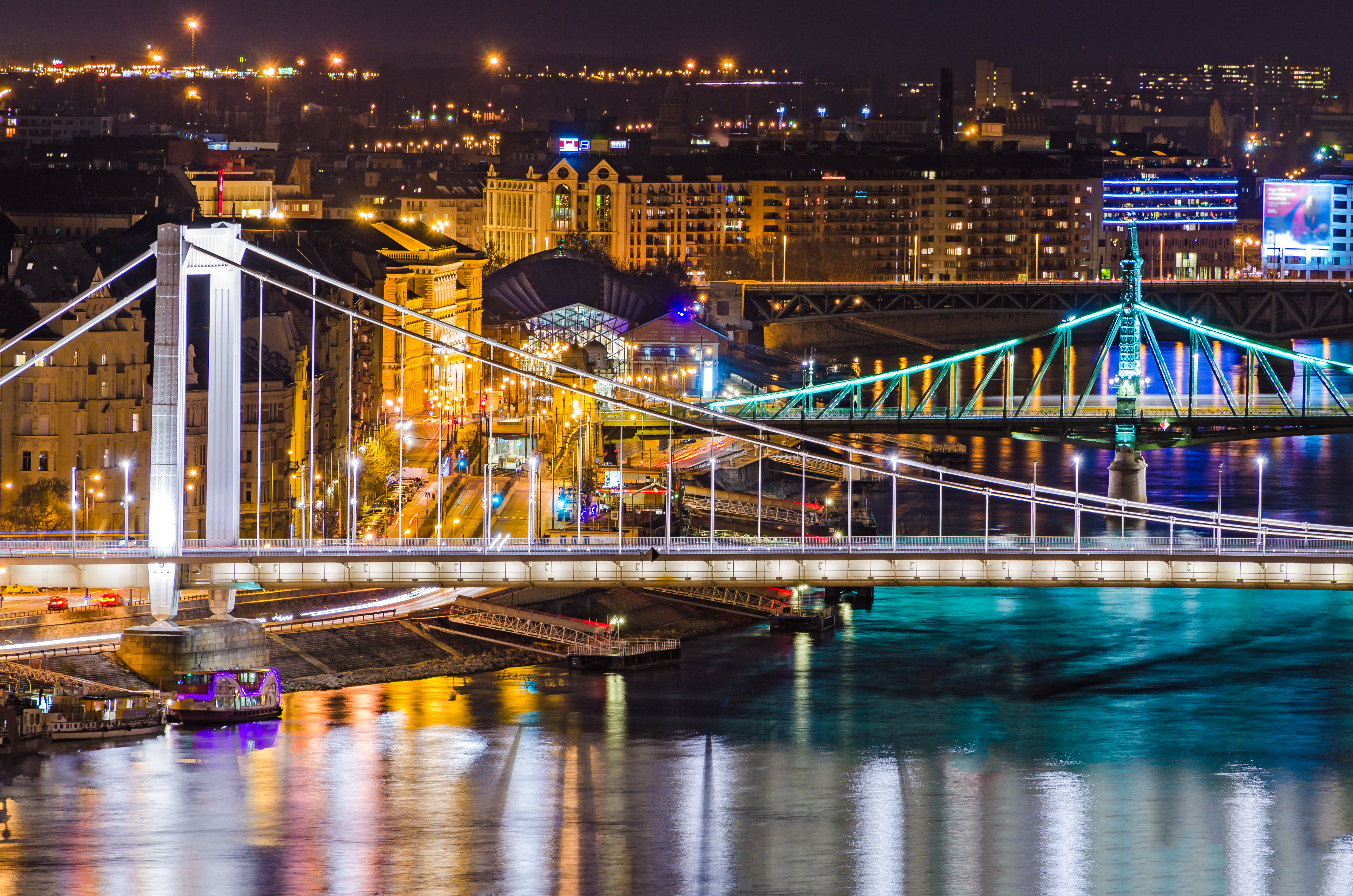 Budapest, Elisabeth and Liberty bridges