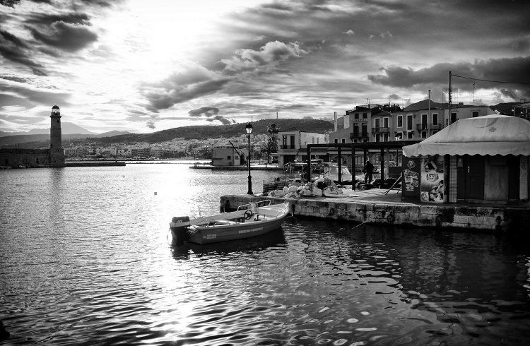 The old Venetian fort at Rethymno by Spyros Papaspyropoulos