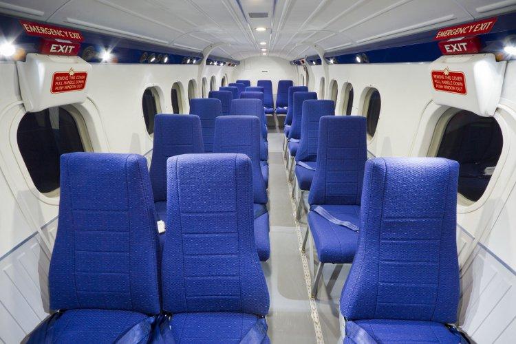 Interior of ECA's Twin Otter aircraft