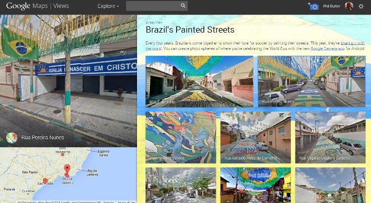 Brazil's Painted Streets via Google Maps