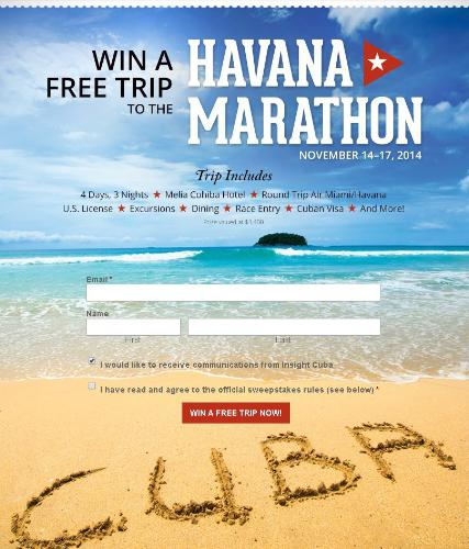 Insight Cuba Havana Marathon Sweepstakes