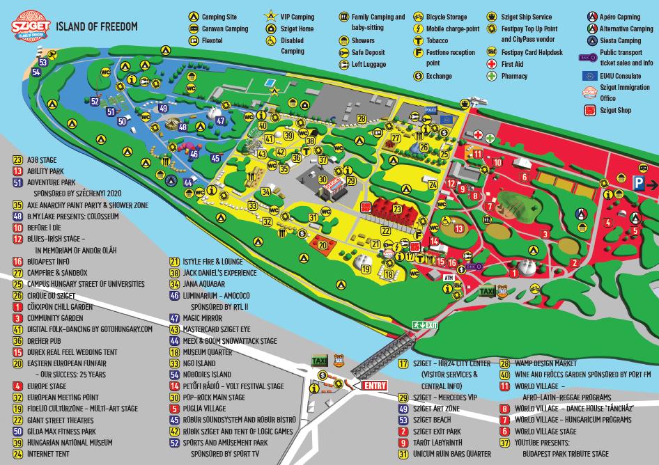 Sziget festival map