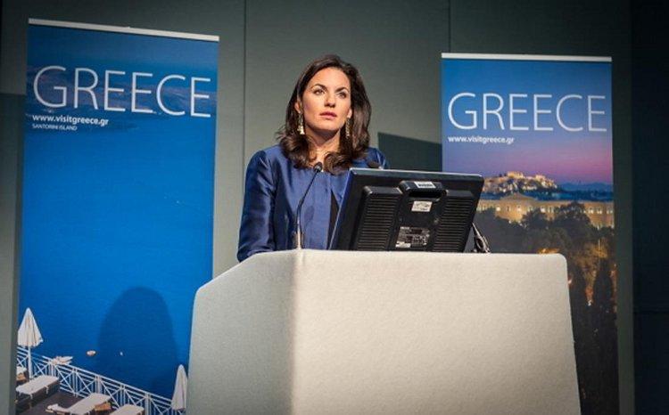 Speaking of Olga Kefalogianni at World Travel Market in London