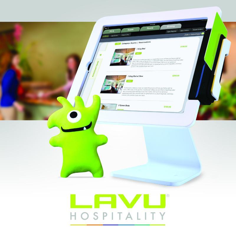 Lavu iPad Stand Mascot Hospitality