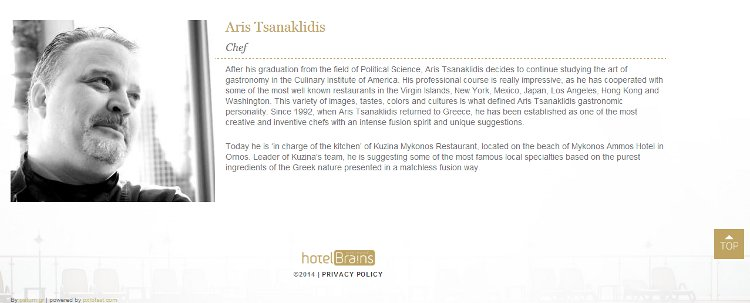 Culinary artist Aris Tsanaklidis - Just one of many creatives HotelBrain features for hotels