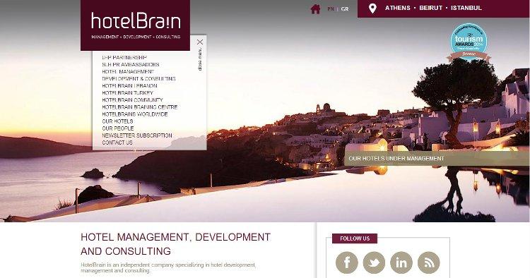 HotelBrain landing page
