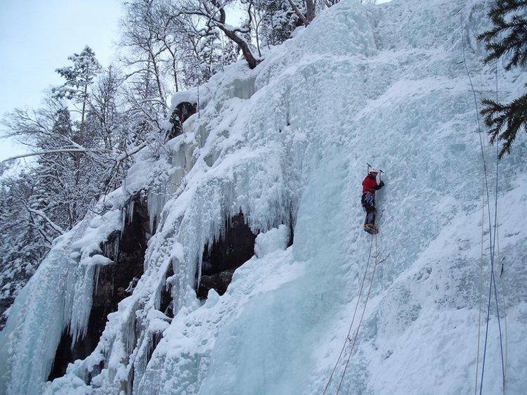 Norway ice climb Via subflux