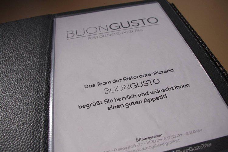 BUONGUSTO menu