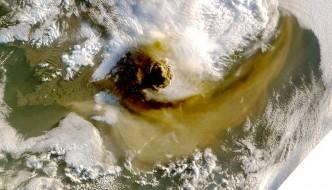 Grímsvötn Volcano Showing Plume - May 22, 2011 - NASA