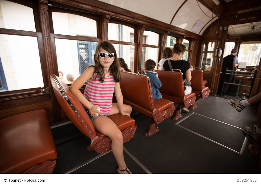 vintage Porto tram