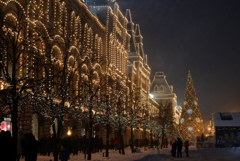 In Red Square by Danila Matveev on Christmas