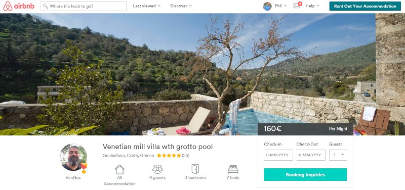 Airbnb profile for a property owner, direct contact and pre-experience top any OTA offer.