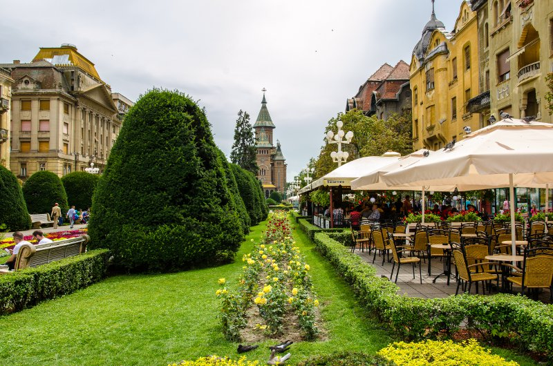 Timisoara is magnificent, even on a cloudy day
