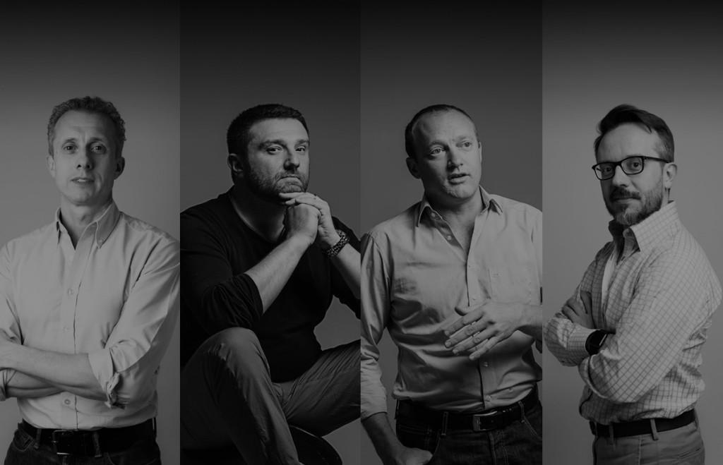 The SnapShot executive team (L-R) Dr. Stefan Tweraser, Michael Turnbull, Michael Heinze, and Martin Soler - SnapShot GmbH