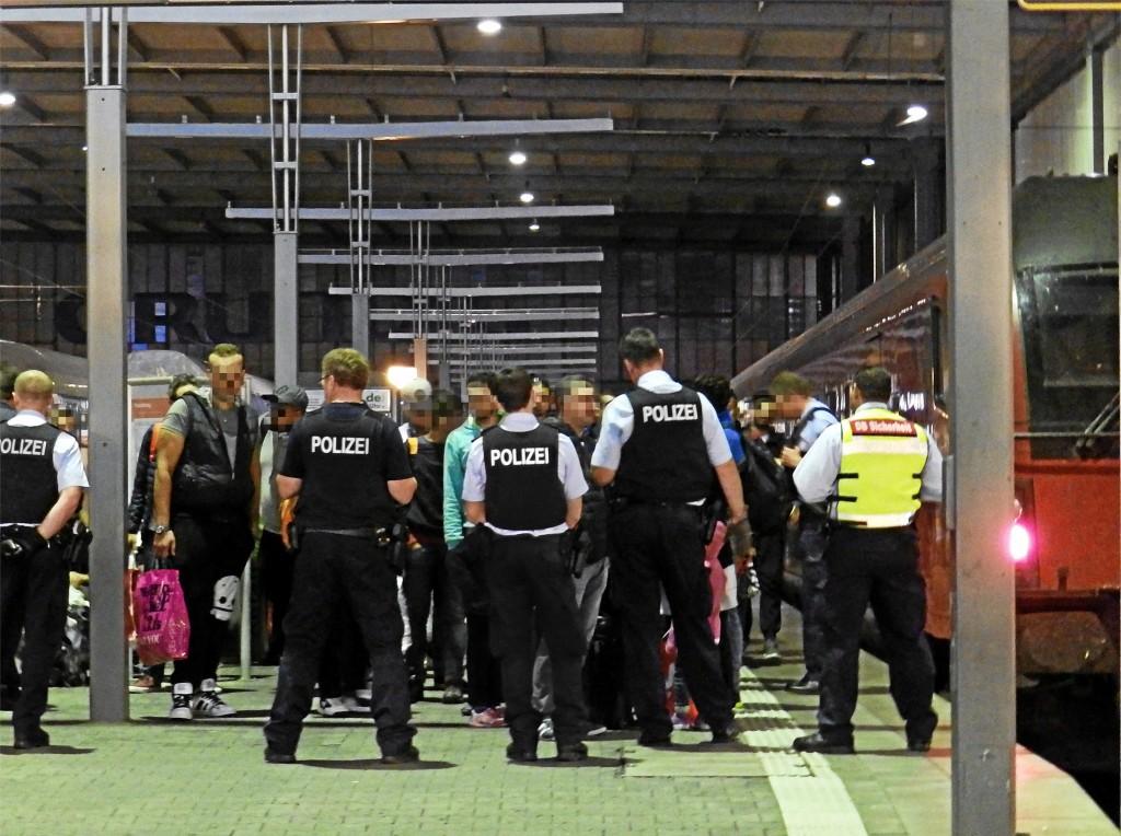 Migrants arriving in Munich