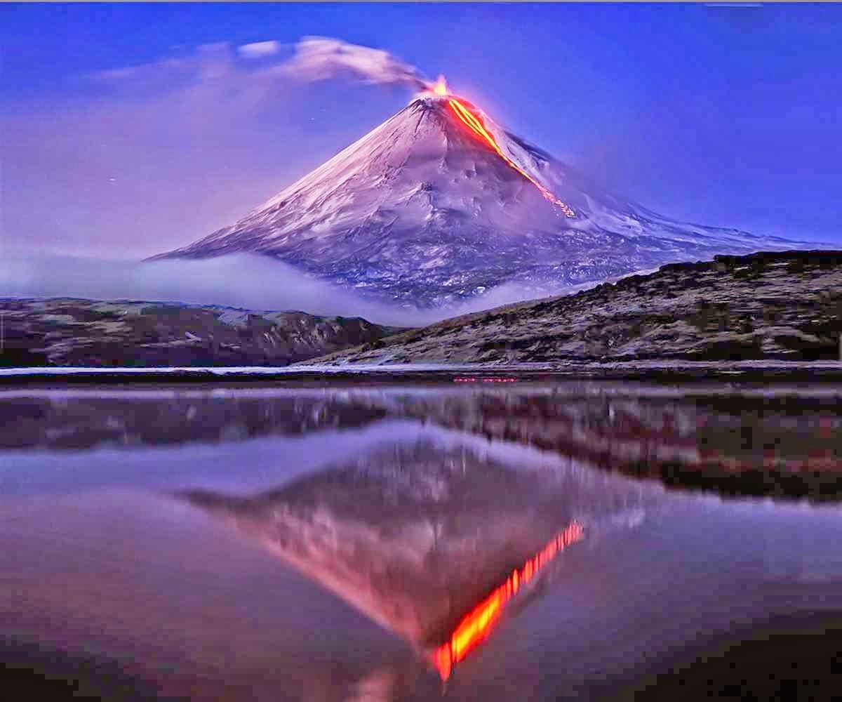 Klyuchevskaya Sopka volcano in Kamchatka