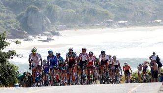 All This Week Cyclists Ride In the Tour of Crete