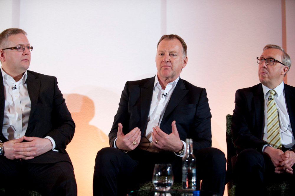 Thomas Magnuson at the 2016 Hotel Operations Conference in London, with Stewart Campbell of Redefine Hotel Management, and Michael Bauer of EVENT Hotels
