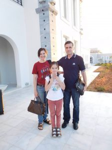 Yuri and his family on Crete