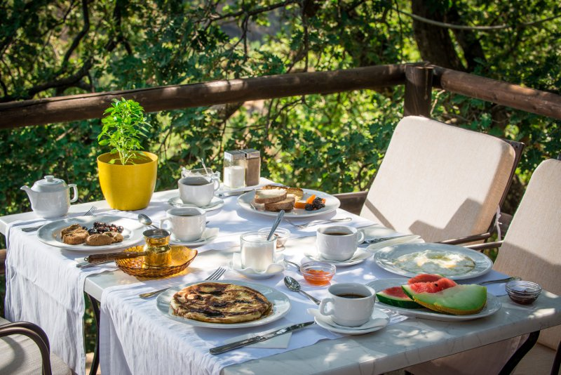 Breakfast is served Cretan style