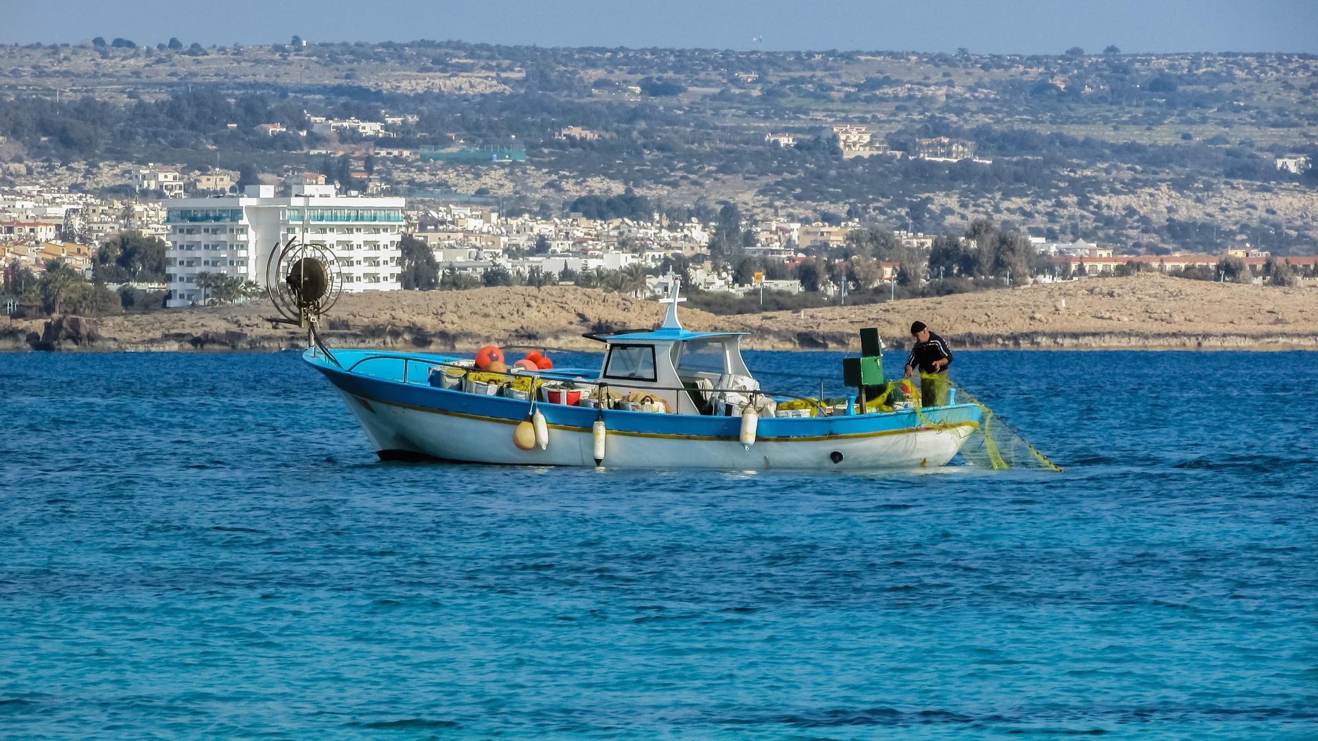 wedding island: Cyprus fishing