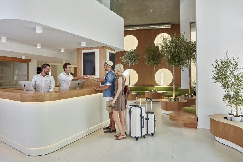 Olive Green Hotel lobby