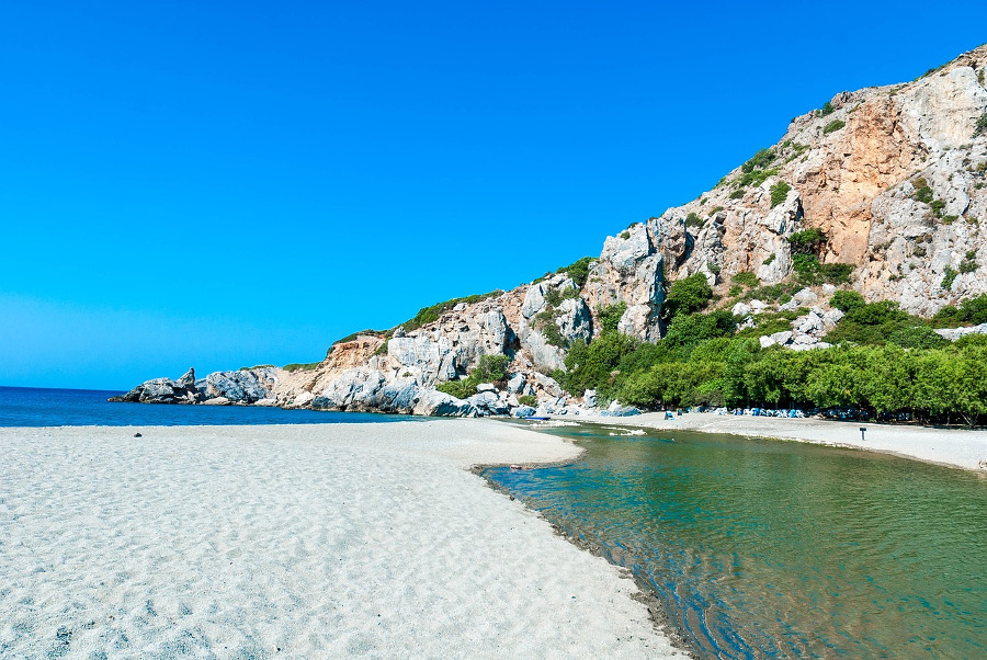 A beach on Crete