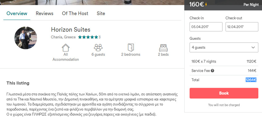 Airbnb fleecing