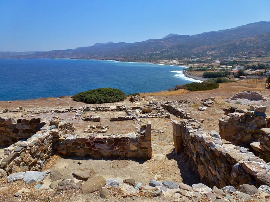 Minoan ruins at Petras