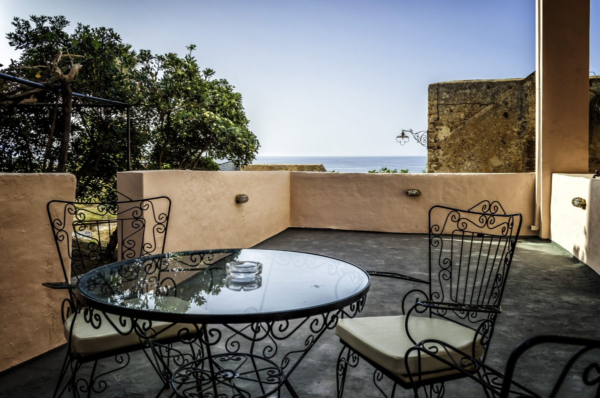 The rooftop terrace at Porto Antico