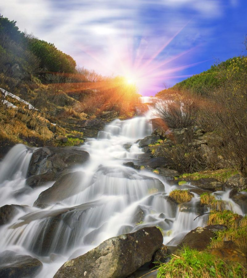 Hoverla Waterfall