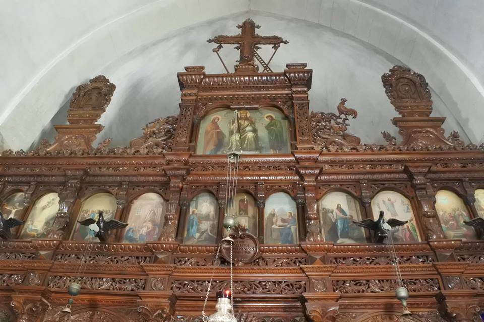 The altar inside Arkadi Monastery