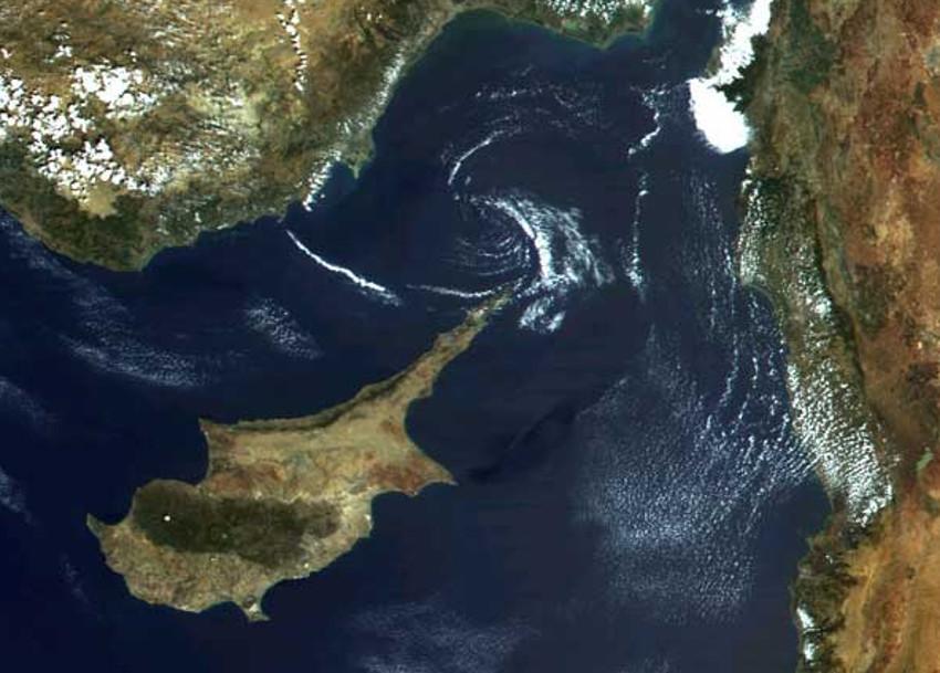 Cyprus from high orbit