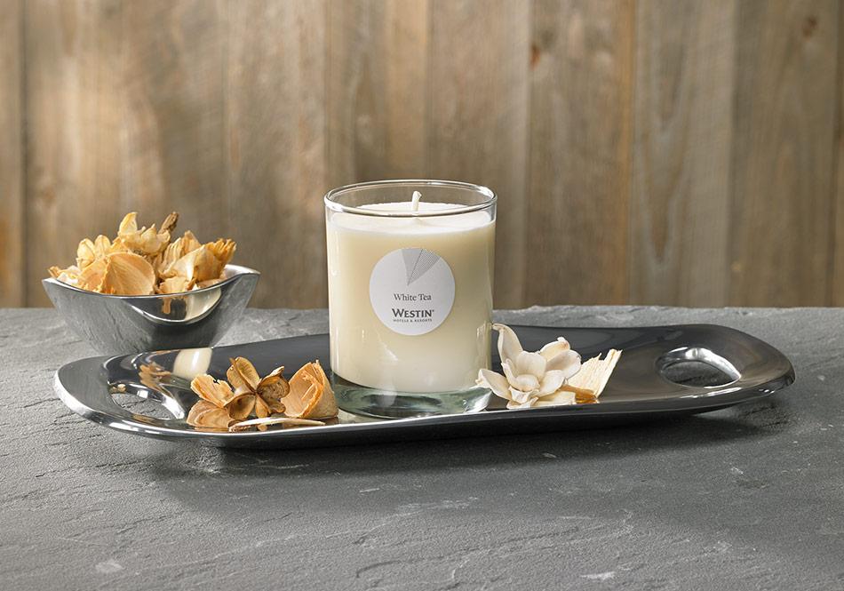 westin white tea candle