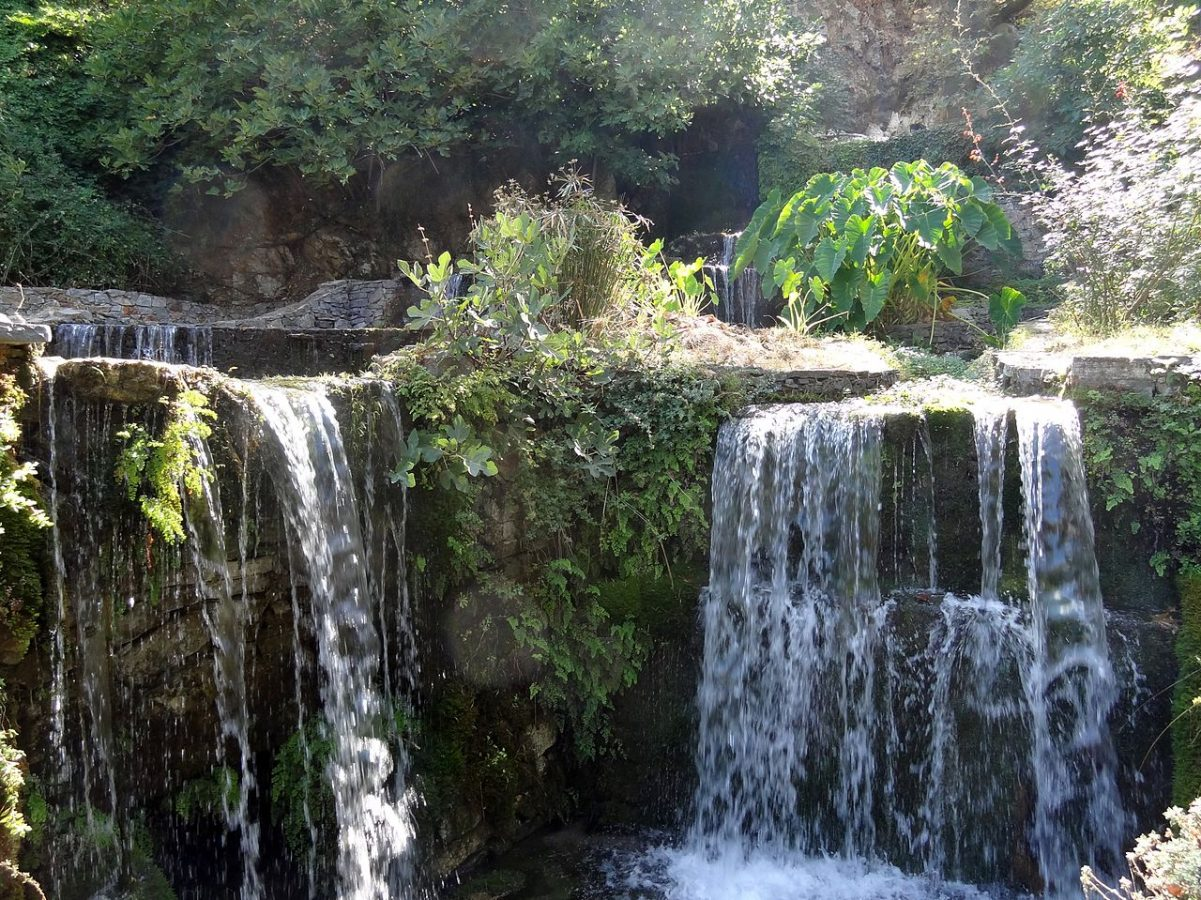 Waterfall in Argyroupoli.