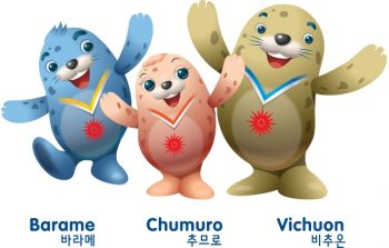 Inchon Games mascots