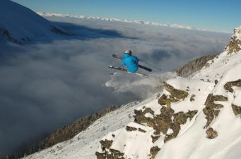 Extreme skiing at Bansko in Bulgaria