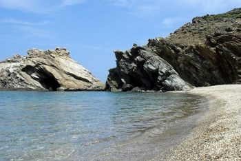 The secluded beaches of Andros