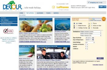 Lufthansa Detours section of their website