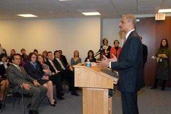 Attorney General Eric Holder speaks to the Antitrust Division.