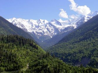 The mountains near Svaneti