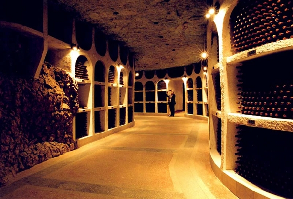 Wine cellar in an old mine in Cricova, Moldova