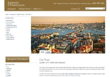 Journeys of Distinction Europe City Tours Page